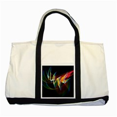 Northern Lights, Abstract Rainbow Aurora Two Toned Tote Bag