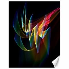 Northern Lights, Abstract Rainbow Aurora Canvas 12  x 16  (Unframed)