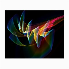 Northern Lights, Abstract Rainbow Aurora Glasses Cloth (Small, Two Sided)