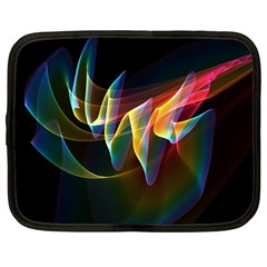 Northern Lights, Abstract Rainbow Aurora Netbook Sleeve (large)