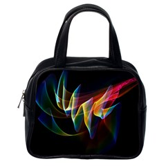 Northern Lights, Abstract Rainbow Aurora Classic Handbag (One Side)
