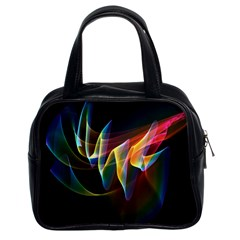Northern Lights, Abstract Rainbow Aurora Classic Handbag (two Sides)