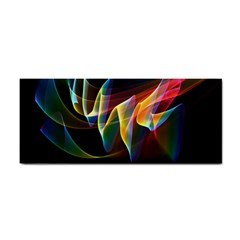 Northern Lights, Abstract Rainbow Aurora Hand Towel