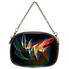 Northern Lights, Abstract Rainbow Aurora Chain Purse (Two Sided)