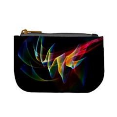 Northern Lights, Abstract Rainbow Aurora Coin Change Purse