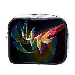 Northern Lights, Abstract Rainbow Aurora Mini Travel Toiletry Bag (one Side)