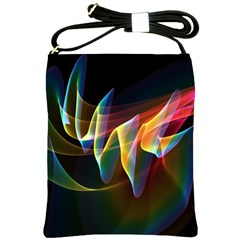 Northern Lights, Abstract Rainbow Aurora Shoulder Sling Bag
