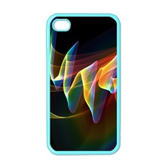 Northern Lights, Abstract Rainbow Aurora Apple Iphone 4 Case (color)