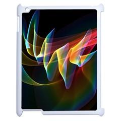 Northern Lights, Abstract Rainbow Aurora Apple iPad 2 Case (White)