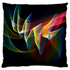 Northern Lights, Abstract Rainbow Aurora Large Cushion Case (Two Sided)