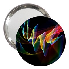Northern Lights, Abstract Rainbow Aurora 3  Handbag Mirror