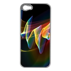 Northern Lights, Abstract Rainbow Aurora Apple Iphone 5 Case (silver)