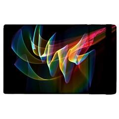 Northern Lights, Abstract Rainbow Aurora Apple Ipad 3/4 Flip Case