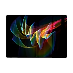 Northern Lights, Abstract Rainbow Aurora Apple iPad Mini Flip Case