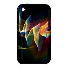 Northern Lights, Abstract Rainbow Aurora Apple iPhone 3G/3GS Hardshell Case (PC+Silicone)