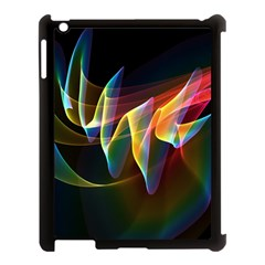 Northern Lights, Abstract Rainbow Aurora Apple iPad 3/4 Case (Black)