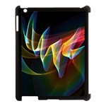 Northern Lights, Abstract Rainbow Aurora Apple iPad 3/4 Case (Black) Front
