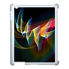 Northern Lights, Abstract Rainbow Aurora Apple iPad 3/4 Case (White)