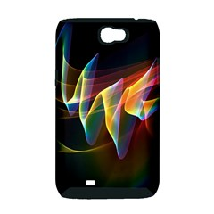 Northern Lights, Abstract Rainbow Aurora Samsung Galaxy Note 2 Hardshell Case (PC+Silicone)