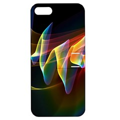 Northern Lights, Abstract Rainbow Aurora Apple Iphone 5 Hardshell Case With Stand