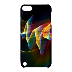Northern Lights, Abstract Rainbow Aurora Apple iPod Touch 5 Hardshell Case with Stand