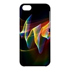 Northern Lights, Abstract Rainbow Aurora Apple iPhone 5C Hardshell Case