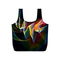 Northern Lights, Abstract Rainbow Aurora Reusable Bag (S)