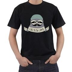 Hipster Sloth s Got Soul Men s T Shirt (black)