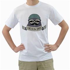 Hipster Sloth s Got Soul Men s T-Shirt (White)