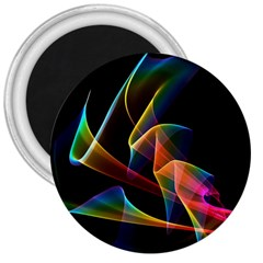 Crystal Rainbow, Abstract Winds Of Love  3  Button Magnet
