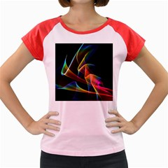 Crystal Rainbow, Abstract Winds Of Love  Women s Cap Sleeve T-Shirt (Colored)