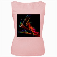 Crystal Rainbow, Abstract Winds Of Love  Women s Tank Top (Pink)