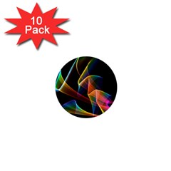 Crystal Rainbow, Abstract Winds Of Love  1  Mini Button (10 pack)