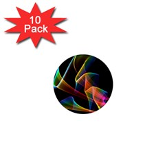 Crystal Rainbow, Abstract Winds Of Love  1  Mini Button Magnet (10 pack)