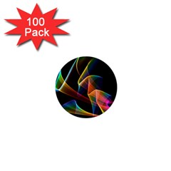 Crystal Rainbow, Abstract Winds Of Love  1  Mini Button (100 pack)