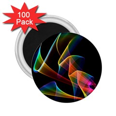 Crystal Rainbow, Abstract Winds Of Love  2.25  Button Magnet (100 pack)