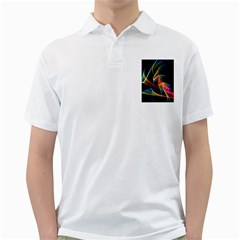 Crystal Rainbow, Abstract Winds Of Love  Men s Polo Shirt (white)