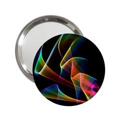 Crystal Rainbow, Abstract Winds Of Love  Handbag Mirror (2.25 )