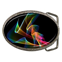 Crystal Rainbow, Abstract Winds Of Love  Belt Buckle (Oval)