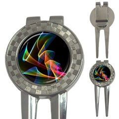 Crystal Rainbow, Abstract Winds Of Love  Golf Pitchfork & Ball Marker