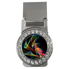 Crystal Rainbow, Abstract Winds Of Love  Money Clip (cz)