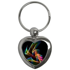 Crystal Rainbow, Abstract Winds Of Love  Key Chain (Heart)