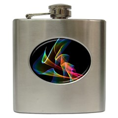 Crystal Rainbow, Abstract Winds Of Love  Hip Flask
