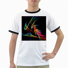 Crystal Rainbow, Abstract Winds Of Love  Men s Ringer T Shirt