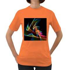 Crystal Rainbow, Abstract Winds Of Love  Women s T-shirt (Colored)