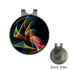 Crystal Rainbow, Abstract Winds Of Love  Hat Clip With Golf Ball Marker