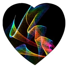 Crystal Rainbow, Abstract Winds Of Love  Jigsaw Puzzle (Heart)