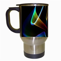 Crystal Rainbow, Abstract Winds Of Love  Travel Mug (White)