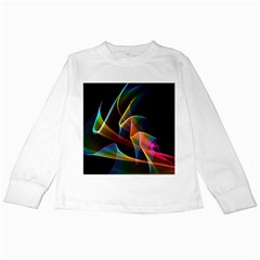 Crystal Rainbow, Abstract Winds Of Love  Kids Long Sleeve T-Shirt