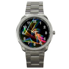 Crystal Rainbow, Abstract Winds Of Love  Sport Metal Watch